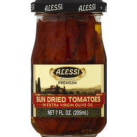 Alessi Tomatoes, Sun Dried, in Extra Virgin Olive Oil, 7 Ounce