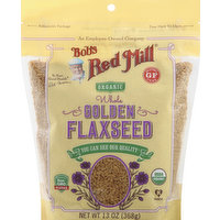 Bob's Red Mill Flaxseed, Golden, Organic, Whole, 13 Ounce