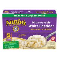 Annies Macaroni & Cheese, White Cheddar, 5 Each
