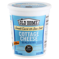 Old Home Cottage Cheese, Small Curd with Sea Salt, 4% Milkfat Min, 32 Ounce