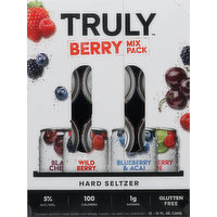 Truly Hard Seltzer, Berry Mix Pack, 12 Each