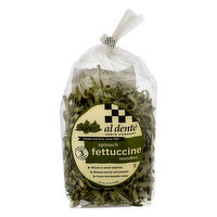 Al Dente Fettucine Noodles, Spinach, 12 Ounce