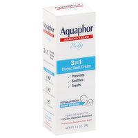 Aquaphor Diaper Rash Cream, 3 in 1, Baby, 3.5 Ounce