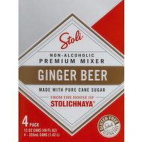 Stolichnaya Ginger Beer, 4 Pack, 4 Each