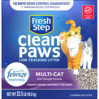 Fresh Step Clumping Cat Litter, Low Tracking, Multi-Cat, 22.5 Pound