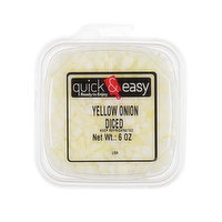 Quick and Easy Yellow Onion Diced, 6 Ounce