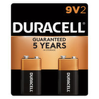 Duracell Batteries, Alkaline, 9V, 2 Pack, 2 Each