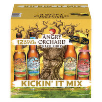 Angry Orchard Beer, Hard Cider, Kickin' It Mix, 12 Pack, 12 Each