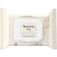Aveeno Disposable Wipes, Hand & Face, 25 Each