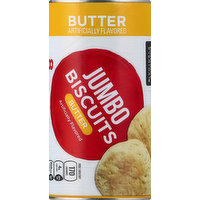 Essential Everyday Biscuits, Butter, Jumbo, 8 Each