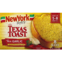 New York Bakery Texas Toast, The Original, with Real Garlic, 8 Each