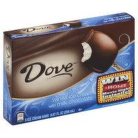 Dove Ice Cream Bars, Vanilla Ice Cream with Milk Chocolate, 3 Each