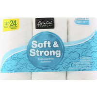 Essential Everyday Bathroom Tissue, Soft & Strong, Double Rolls, Two-Ply, 12 Each
