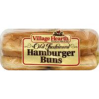 Village Hearth Hamburger Buns, Old Fashioned, 15 Ounce