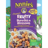 Annies Cereal, Organic, Fruity, Bunnies & Blossoms, 10 Ounce