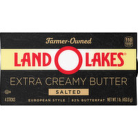 Land O Lakes Butter, Extra Creamy, Salted, European Style, 4 Each