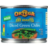 Ortega Green Chiles, Mild, Diced, 4 Ounce