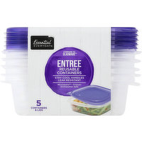 Essential Everyday Reusable Containers, Entree, 25 Fluid Ounce, 5 Each