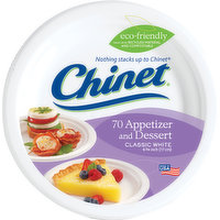 Chinet Plates, Appetizer and Dessert, Classic White, 6-3/4 Inch, 70 Each