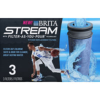 Brita Replacement Filters, Stream Pitchers, 3 Each