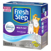 Fresh Step Clumping Cat Litter, Multi-Cat, Extra Strength Formula, with Febreze Freshness, 25 Pound
