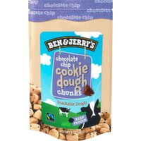 Ben & Jerry's Cookie Dough, Chocolate Chip, Chunks, 8 Ounce