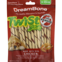 DreamBone Dog Chews, Vegetable & Chicken, Twist Sticks, 50 Each