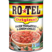 RO-TEL Tomatoes & Green Chilies, Diced, Original, 10 Ounce