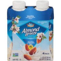 Almond Breeze Almondmilk, Vanilla, 4 Pack, 4 Each
