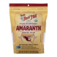 Bobs Red Mill Amaranth, Organic, Whole Grain, 24 Ounce