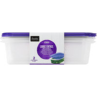 Essential Everyday Containers, Reusable, Large Entree, 76 Ounce, 2 Each