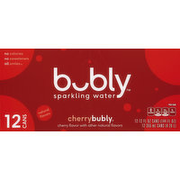 bubly Sparkling Water, Cherry, 12 Each