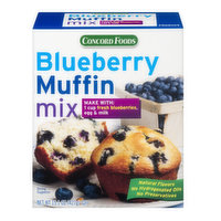 Concord Foods Blueberry Muffin Mix, 15.1 Ounce