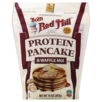 Bobs Red Mill Pancake & Waffle Mix, Protein, 14 Ounce