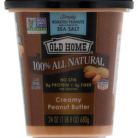 Old Home Peanut Butter, Creamy, 100% All Natural, 24 Ounce