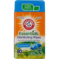 Arm & Hammer Disinfecting Wipes, Renewing Rain, 80 Each