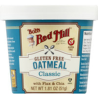 Bob's Red Mill Oatmeal, Gluten Free, Classic, 1.81 Ounce