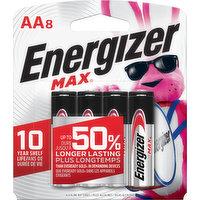 Energizer Batteries, Alkaline, AA, 8 Pack, 8 Each