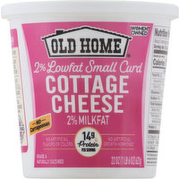 Old Home Cottage Cheese, Small Curd, 2% Milkfat, 2% Lowfat, 22 Ounce