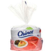 Chinet Plates, All Occasion, Classic White, 8.75 Inch, 120 Each