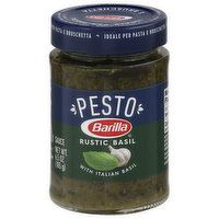 Barilla Pesto Sauce, Rustic Basil, 6.5 Ounce