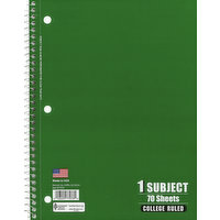 Norcom Notebook, College Ruled, 70 Sheets, 1 Each