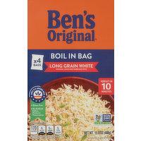 Ben's Original Rice, Long Grain White, Boil in Bag, 4 Each
