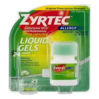 Zyrtec Liquid Gels, Original Prescription Strength, 10 mg, Allergy, Capsules, 25 Each