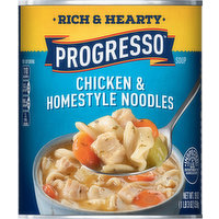 Progresso Soup, Chicken & Homestyle Noodles, Rich & Hearty, 19 Ounce