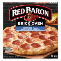 Red Baron Pizza, Pepperoni, Brick Oven Crust, 17.89 Ounce