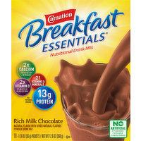 Carnation Nutritional Drink Mix, Rich Milk Chocolate, 10 Each