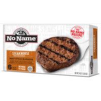 No Name Steakhouse Seasoned Burgers, 24 Ounce