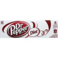 Dr Pepper Soda, Diet, 12 Each