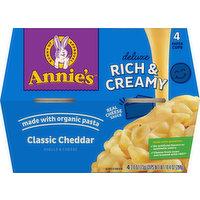 Annie's Shells & Cheese, Classic Cheddar, 4 Pack, 4 Each